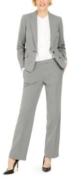 Le Suit Micro-Print Pants Suit