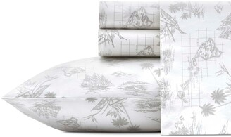Tommy Bahama Vintage Map 200 Thread Count Sheet Set