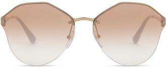 Prada PR64TS round-frame metal sunglasses