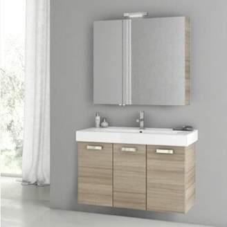 "ACF Bathroom Vanities Cubical 2 41"" Single Bathroom Vanity Set ACF Bathroom Vanities Base Finish: Larch Canapa"