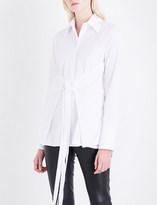 Helmut Lang Corset-panel cotton-poplin shirt