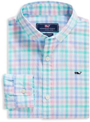 Vineyard Vines Little Boy's & Boy's Palm Beach Plaid Shirt