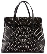 Alaia Laser Cut Leather Handle Bag