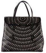 Alaia Laser Cut Leather Handle Bag