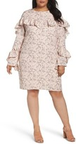 Glamorous Plus Size Women's Ruffle Print Shift Dress