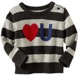 Gap Love U stripe sweater