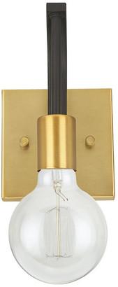Aspen Creative Corporation 62174, 1-Light Metal Bathroom Vanity Wall Light Fixture, Bronze