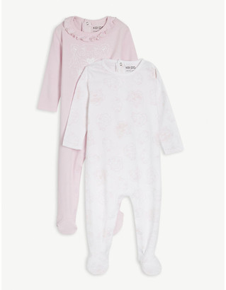 Kenzo Cotton sleepsuit and bag three piece set 3-12 months