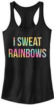 Chin Up Apparel Women's Tank Tops BLACK - Black 'I Sweat Rainbows' Slim Fit Racerback Tank - Women