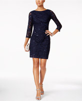 Jessica Howard Petite Sequined Lace Sheath Dress