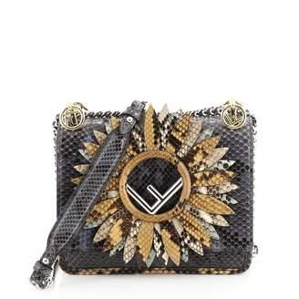 Fendi Kan I Blue Python Handbags