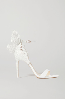 Sophia Webster Chiara Embroidered Leather Sandals - White
