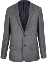 River Island Blue Checked Skinny Suit Jacket