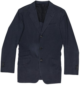 Saint Laurent Navy Viscose Jackets
