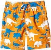 Hatley Wild Dinos Swim Trunks (Toddler/Kid) - Orange - 3T