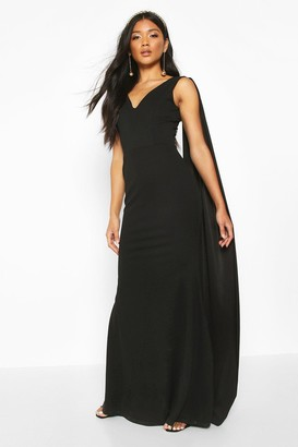 boohoo One Shoulder Caped Maxi Dress