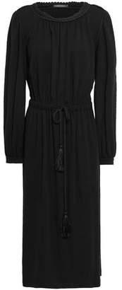 Alberta Ferretti Gathered Jersey Midi Dress