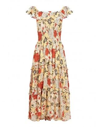 Swildens Barbara Dahlia Print Dress - 8