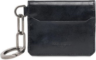 Dolce & Gabbana Leather Wallet W/ Key Chain Ring