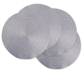 Design Imports Metallic Round Woven Placemat, Set of 4