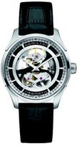 Hamilton Jazzmaster Viewmatic Skeleton Gent Auto Stainless Steel & Embossed Leather Strap Watch