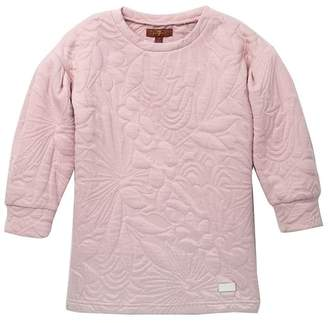 7 For All Mankind Quilted Puff Sleeve Dress (Little Girls)