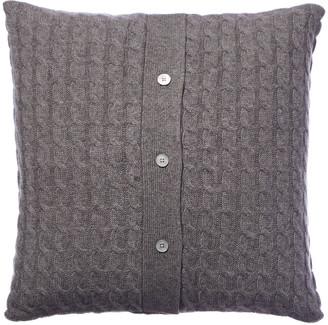Sofia Cashmere Sofiacashmere Classic Cable Cashmere Pillow Cover