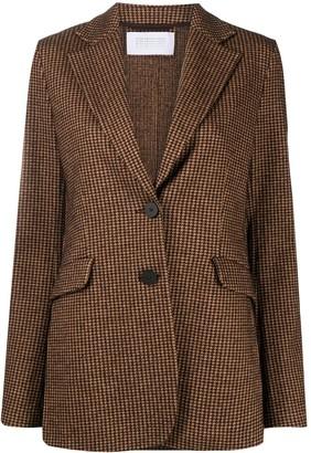 Harris Wharf London Houndstooth Check Single-Breasted Blazer