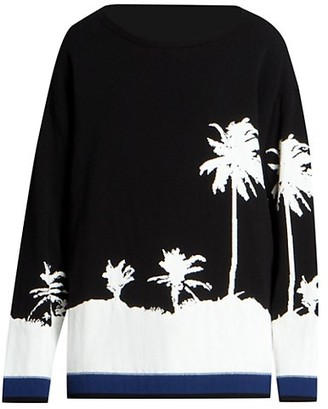 Dries Van Noten Palm Graphic Sweater