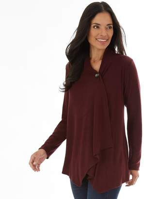 Apt. 9 Petite Cozy Draped Button-Front Cardigan