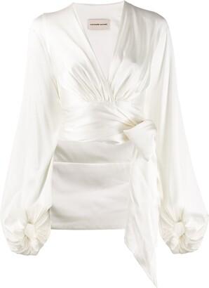 Alexandre Vauthier wrapped crop blouse