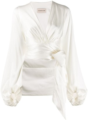 Alexandre Vauthier Wrapped Crop Blouse