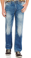 Buffalo David Bitton Six Slim Straight Sanded Jeans