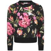 Dolce & Gabbana Dolce & GabbanaGirls Black & Pink Rose Sweatshirt