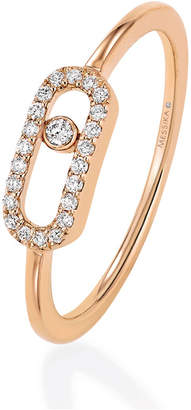 Messika Move Classique Diamond Pave Ring in 18ct Rose Gold