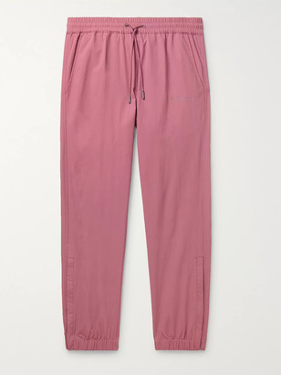 Aimé Leon Dore Tapered Logo-Embroidered Nylon Drawstring Trousers - Men - Pink