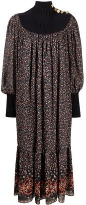 Chloé Floral-Print Midi Dress
