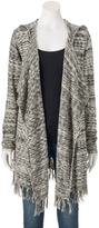Women's SONOMA Goods for LifeTM Hooded Marled Cardigan