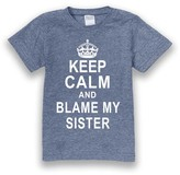 Urban Smalls Heather Blue 'Keep Calm And Blame My Sister' Tee - Toddler & Boys