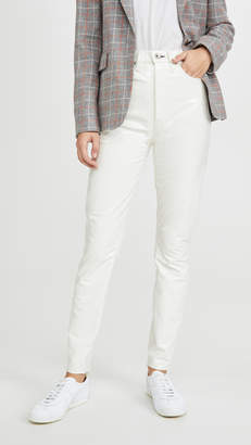 Rag & Bone Super High Rise Ankle Skinny Vinyl Jeans
