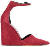Derek Lam ankle strap pointed pumps - women - Leather/Suede - 36