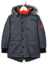 Kenzo fur hooded padded coat