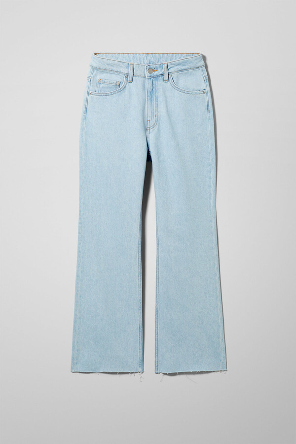 Thumbnail for your product : Weekday Mile High Flare Cropped Jeans - Blue