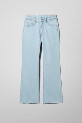 Weekday Mile High Flare Cropped Jeans - Blue