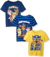 Nickelodeon Boys' Little Boys' Paw Patrol 3 Pack T-Shirts
