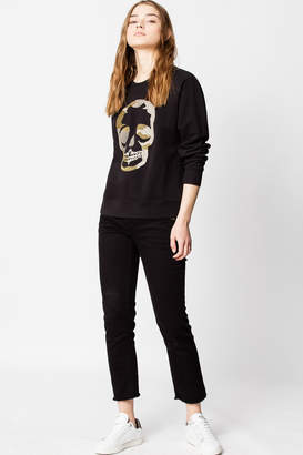 Zadig & Voltaire Upper Skull Glitter Sweatshirt