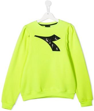 Diadora Junior TEEN embellished logo sweatshirt