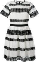 MICHAEL Michael Kors striped pleated dress - women - Cotton/Polyester - 4