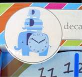 Kidspace Kid Space Nursery Room Wall Clock with Blue Elephant Decals
