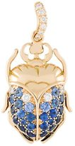 Aurelie Bidermann 'Scarab' sapphire and diamond pendant